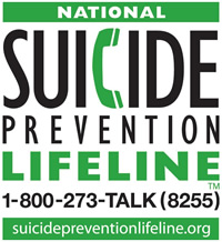 Suicide Prevention Lifeline: 800-273-8255
